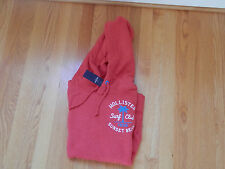 NWT Hollister Black's Beach Hoodie Red M or L by Abercrombie