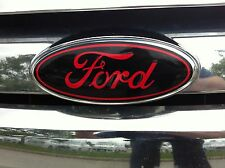 Front and rear oval emblem STICKER OVERLAYS Fits 2012-14 FORD FOCUS (NON-ST)