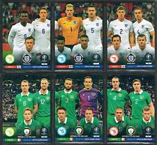 LINE UP CARDS Panini Road to Euro 2016 ADRENALYN XL Football Trading Cards