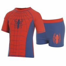 Boys Marvel Spiderman 2 piece swim suit uv protection Ages 2-8 Years