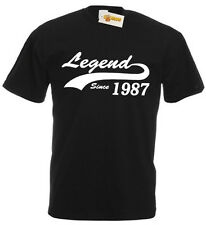 Legend 1986 T-Shirt, mens 30th birthday gifts presents, gift ideas for men him