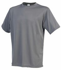 Men's Dry-Plus Athletic Crewneck Shirt Sports Workout MADE IN USA moisture wick