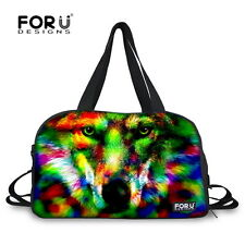 Women's Men's Canvas Travel Luggage Overnight Weekend Sport Yoga Gym Duffle Bag