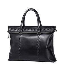 SAMMONS Men's Real Genuine Leather Purse Hand Bag Tote Satchel Briefcase Laptop