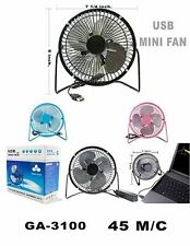 "7"" Metal Super Mute Portable Mini USB Cooling Desk Fan Cooler PC Laptop Computer"