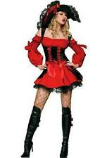 Sexy Adult Women Red Pirate Halloween Costume Party Dress Fancy Outfit