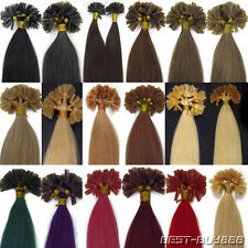 Pre Bonded Nail Tip U Tip Remy Human Hair Extensions Double Drawn ItalianKeratin