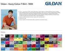 100 Gildan T SHIRT BLANK BULK LOT Colors 50 Mix Match White Plain S-XL Wholesale