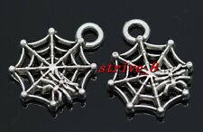 60/300pcs Tibetan Silver spider's web Alloy Jewelry Charms Pendant 17x14mm