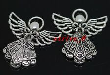 20/100pcs Tibetan Silver Lovely Angel Jewelry Finding charms pendant 26x23mm