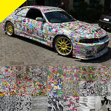 Car Truck SUV Body Camouflage Bomb Vinyl Graffiti Sticker Wrap Film Decal Sheet