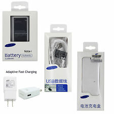 Genuine SAMSUNG Galaxy Note 4 IV EB-BN910BBE 3220mAh NFC Battery &Charger &Cable
