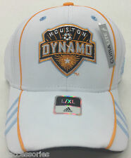 NWT MLS Houston Dynamo Adidas Climalite Curve Brim Cap Hat NEW!