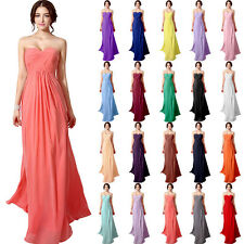 Chiffon Long Plus Size Bridesmaid Dresses Party Evening Ball Formal Prom Gowns