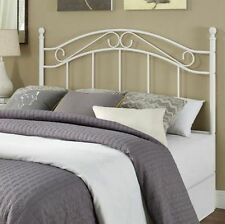 Full Queen Size Metal Headboard Bedroom Furniture Frame Black or White Bed NEW