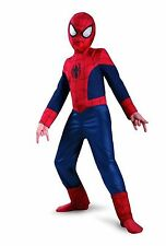 NWT ULTIMATE SPIDERMAN COMPLETE COSTUME - SPIDER MAN SUPERHERO SMALL 4-6 MED 7-8