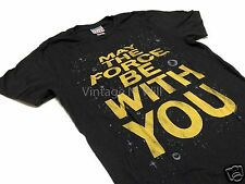 """Junk Food Mens Star Wars """"May The Force Be With You"""" Vintage Black Movie T-Shirt"""