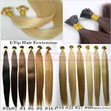"""100s 16""""18""""20""""22""""24""""Keratin Stick tip/I-tip Fusion Remy Human Hair Extensions"""