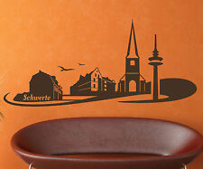 Wall Tattoo Skyline XXL Schwerte, germany Wall Sticker Tattoo Germany City 1M155