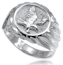 Sterling Silver American Eagle Men's Ring