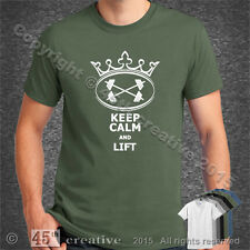 KEEP CALM and LIFT t-shirt - weight lifting training bar dumbbell funny t shirt