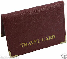 Mens Real Genuine Grained Leather Travel, Oyster, Credit Card Holder BLACK BROWN