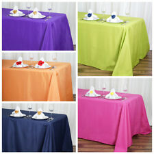 "12 pcs 90""x132"" Polyester Tablecloth Wedding Party Table Linens go to the floor"