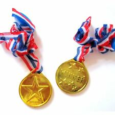 Gold Winners Medals Plastic Lanyard Sports Day Bulk Prizes Awards