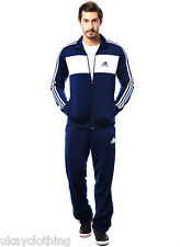 adidas Mens Full Tracksuit Zip Jacket Jogging Bottoms Pants