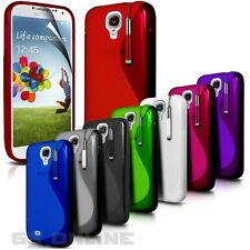 S LINE SILICONE GEL COVER CASE FOR SAMSUNG GALAXY PHONE+SCREEN PROTECTOR+ STYLUS