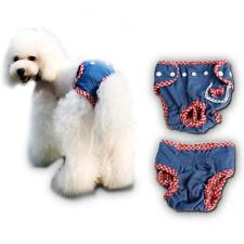 Female Pet Dog Cotton Grid Physiological Diaper Sanitary Underwear Size S/M/L