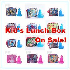 Kid's Boy's Girl's School Lunch Box Insulated Drink Bottle Bag Picnic Set Travel