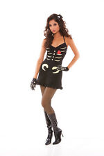 Sexy  3PC Skeleton Bones Dress Women's Halloween Party Costume. S,M
