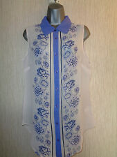 BNWT Ladies Various Size Kaleidoscope Ivory Purple Sleeveless Blouse RRP £45