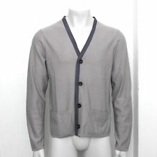 NEW Mens Lanvin Grey Wool Buttoned Cardigan Knitwear Top GENUINE RRP £530 52 XL