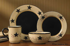 Country Primitive ~ STAR VINE  Dinnerware -SOLD  BY THE PIECE