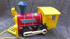 """Vintage Fisher Price """"Toot  Toot"""" Train Engine Pull Toy (1964) Wood and Plastic"""