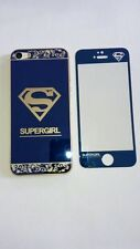 SUPERGIRL Tempered Glass Screen Protectors for iPhone5/5S front&back+Free Case