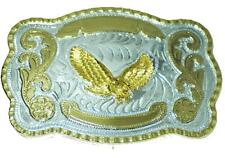 BU79 HUGE WESTERN TROPHY STYLE BELT BUCKLE W/FLYING EAGLE & OPTIONAL BELT STRAP