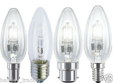 5X HALOGEN CANDLE LOW ENERGY SAVING LIGHT BULBS DIMMABLE BC SBC ES SES Lamps New