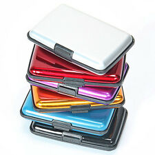 Waterproof Business ID Credit Card Wallet Holder Aluminum Metal Case Box N
