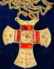 """GEORGEOUS  MALTESE CROSS PENDANT & NECKLACE  LARGE AT 2 1/2"""" x 2 1/2"""""""