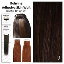 Bohyme Tape-In Skinweft 100% Remi Human Hair Extensions Color 2