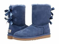 Women's Shoes UGG Australia Bailey Bow Boots 1002954 Blue Jay *New*