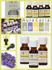 Assorted Aura Cacia 100% Pure Essential Oils .5 oz Bottles Therapeutic Oils