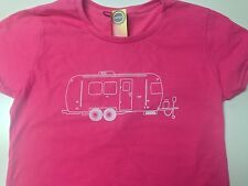 VINTAGE AIRSTREAM CAMPER T SHIRT NWT.The trailer life, is good.Women Pink Fitted