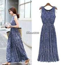 Summer Sexy Women Boho Long Maxi Evening Party Dress Beach Dresses Chiffon Dress