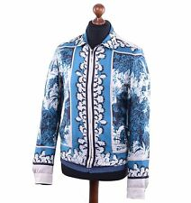 DOLCE & GABBANA Silk Jacket Blue 03807