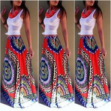 Womens Gypsy Boho Floral Maxi Skirt Summer Beach Long Casual Party Skirt Dresses