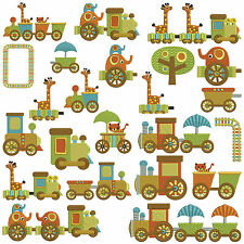 CHOO TRAIN RIDE * Machine Embroidery Patterns * 15 designs, 2 sizes